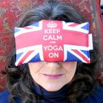 Keep Calm & Yoga On Eye Pillow